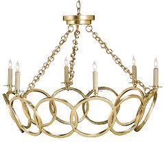 modern round gold circular chandelier