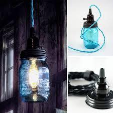 diy mason jar pendant light kit