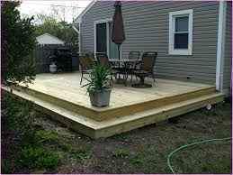 ground level deck ideas ground level