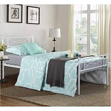 Amazon.com: SimLife Metal Bed Frame Solid 6 Legs Two Headboards ...