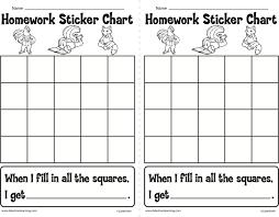Homework Sticker Chart Classroom Ideas Sticker Chart
