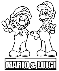 Mario And Luigi Coloring Pages For Kids Coloringstar