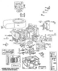lawn mower engine parts. briggs \u0026amp; stratton 11 hp. engine parts | model with lawn mower