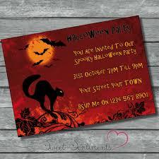 Halloween Birthday Party Invitations Printable Free