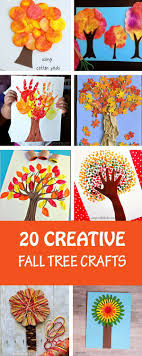 20 creative fall tree crafts for kids to make this autumn. So many  different art