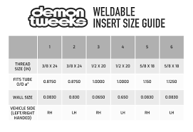 Threaded Insert Size Chart Buy Demon Tweeks Weldable Threaded Insert Demon Tweeks