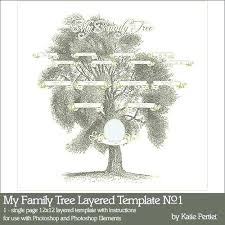Family Tree Book Template Vitaminac Info