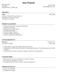 Sample Resume No Work Experience Free Resume Templates 2018