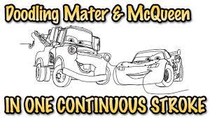 lightning mcqueen mater doodle in one stroke