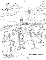 Malvorlage Weihnachtsstern Bethlehem Weihnachten