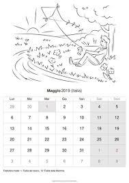 Calendario Maggio 2019 Da Stampare Italia