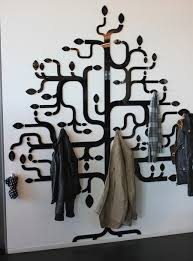 Wall Mounted Tree Coat Rack Best WallMounted Coat Tree In The Shape Of A Tree POPSUGAR Home