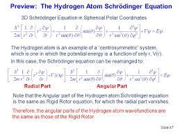preview the hydrogen atom schrödinger equation