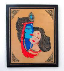 polymer clay wall art lord krishna and radha on clay wall art pinterest with polymer clay wall art lord krishna and radha wall art