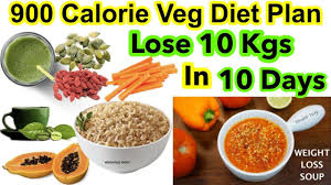 1000 Calories Food Chart How To Lose Weight Fast 10kg In 10 Days 900 Calorie Veg Diet Plan For Weight Loss Hindi