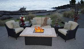 gas patio table. unique outdoor patio set with gas fire pit furniture sets hampton bay table a