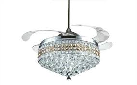 crystal chandelier in a fan 48 fan size the fan has three colors of led lights and is the most elegant one in the entire range the fan has 4 retractable