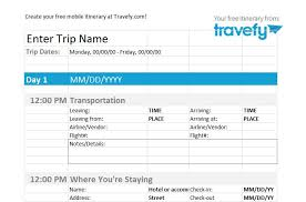 Free Itinerary Maker 30 Itinerary Templates Travel Vacation Trip Flight