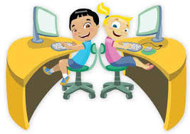 Image result for children on a computer clip art