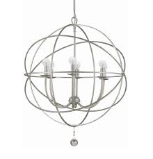 9226 os brand crystorama 6 light olde silver industrial chandelier