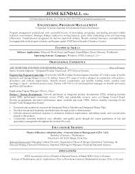 Program Manager Resume Cool Project Manager Resume Summary Statement Examples Plus Attractive