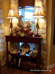 Rooster Kitchen Decor Dining Room Or Kitchen Accent Table With Buffet Lamps Rooster