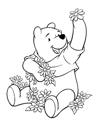 Disney Pooh Coloring Page Printable Free