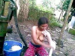 Village bath sex in outdoor