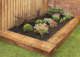 Small Picture Garden Landscaping with Railway Sleepers Love The Garden
