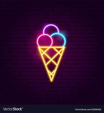 Neon Light Ice Cream Ice Cream Neon Sign