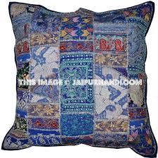 24x24 decorative pillows. Interesting Pillows 24x24 Vintage Decorative Throw Pillows Blue Couch Sofa CushionsJaipur  Handloom  On Decorative Pillows Jaipur