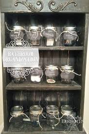 Mason Jar Bathroom Accessories Mason Jar Bathroom Organization Country Design Style