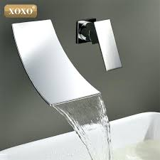 wall mount waterfall faucet good free wall mounted waterfall bathroom wall mounted waterfall bathroom sink faucets