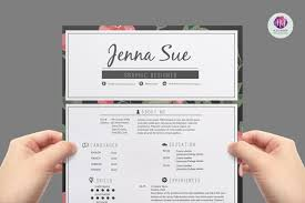 Pretty Resume Templates 100 Awesome Artistic Resume Templates Resume Writing Tips 33