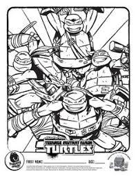 teenage mutant ninja turtles kids coloring pages and free