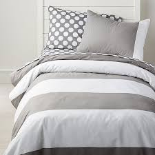 contemporary gray and white striped bedding grey duvet cover crate barrel curtain shower rug wall wallpaper comforter fabric sheet