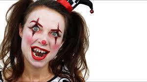 Girl Clown Face Designs Scary Clown Halloween Makeup Tutorial