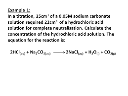 sodium carbonate hydrochloric acid equation jennarocca