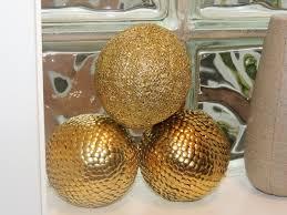 Orb Decorative Ball Gold decorative ball Gold Vase filler Gold crinkle ball Gold 43
