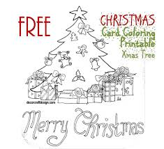 Wishing good luck, happiness, peace, love and merry christmas. Free Christmas Card Coloring Printable For Kids Xmas Tree Decor Craft Design
