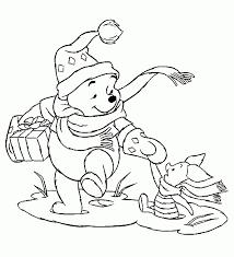 Kleurplaat Winnie De Pooh Kerst Norskiinfo