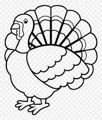 wild turkey clipart black and white. Plain Black Beautiful Wild Turkey Coloring Pages  Outline Of A In Clipart Black And White C