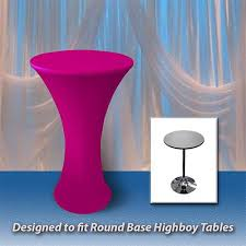 24 x 42 spandex table cover for round base