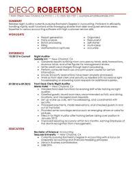 Auditor Job Description Resumes Best Night Auditor Resume Example From Professional Resume