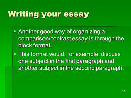 compare and contrast essay ppt  10 writing