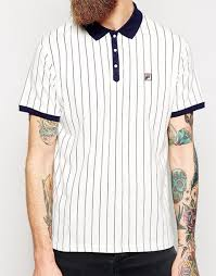 fila vintage polo. t-shirt polo shirt fila vintage striped top white navy hipster menswear mens
