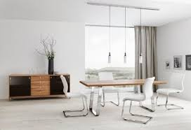dining room sets contemporary black finished armless chairs white cushion pads modern white dining chair glass