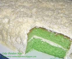 Just My Ordinary Kitchen Cake Pandan Keju