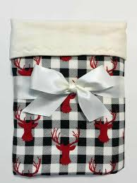 buffalo plaid blanket with deer flannel