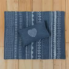 ikat duvet cover for baby s crib denim zoom